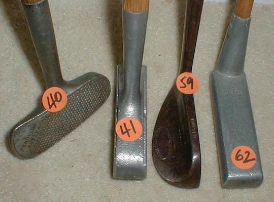 Gifts for the Golfer! Golf Gifts. Wooden Shaft Golf Clubs and Collectibles, Antique Golf Balls and golf collectables.  Hickory Golf Clubs - Great artifacts for interior decorating!