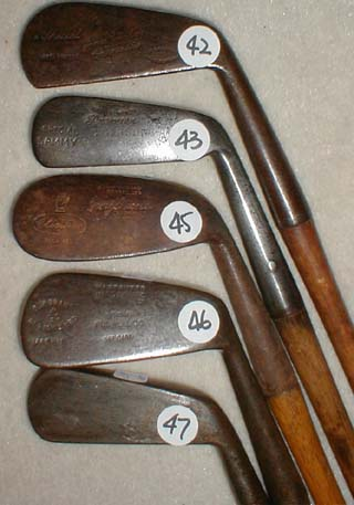 Gifts for the Golfer! Golf Gifts. Wooden Shaft Golf Clubs and Collectibles, Antique Golf Balls and golf collectables.  Hickory Golf Clubs - Great artifacts for interior decorating! Rare coins