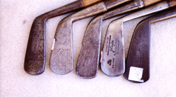 wooden shafted golf clubs and collectibles