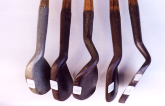 Anti-shank irons - Wooden Shafted Golf Clubs & Collectibles Auction