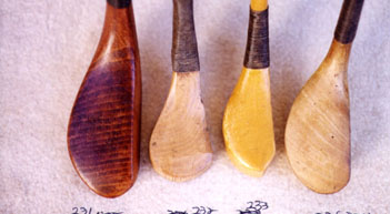 Wooden Shafted Hickory Golf Clubs & Golf Collectibles