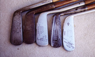 Wooden Shafted Golf Clubs & Collectibles Auction