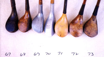 golf woods - wooden shafted golf clubs and collectibles
