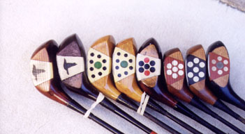 Pretty face woods - wooden shafted golf clubs and collectibles
